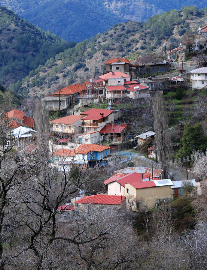 Mountain Village , Lemithou Cyprus royalty free stock images
