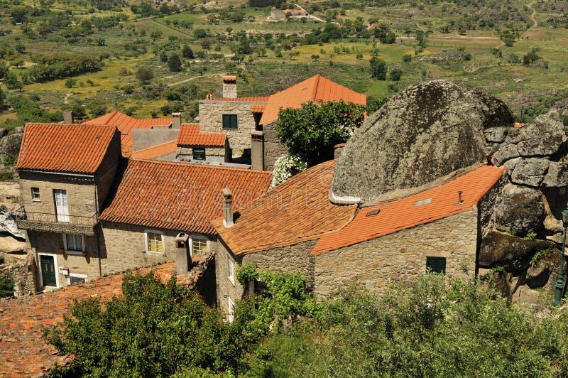 Mountain village, Monsanto portugal royalty free stock image
