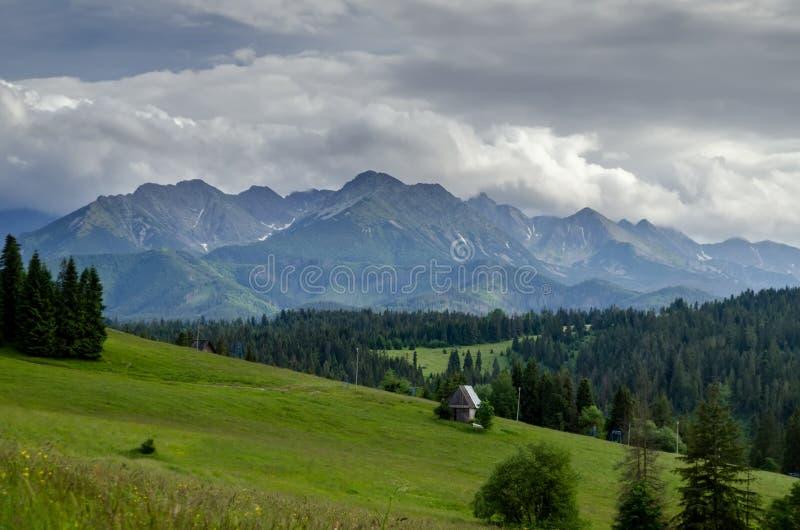 Mountain village in the mountains stock photo
