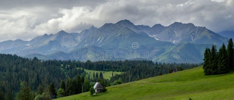 Mountain village in the mountains royalty free stock photos