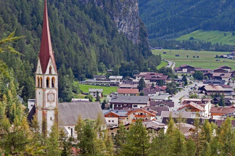 Mountain village in Otztal, Tirol, Austria royalty free stock photos