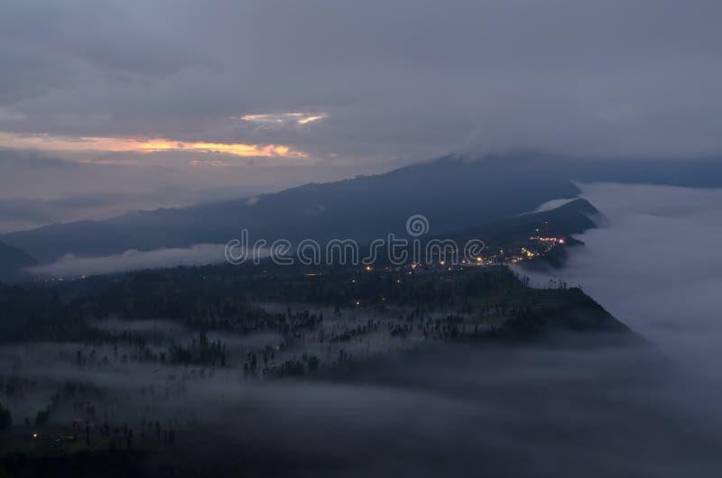 Mountain village in Probolinggo stock photo