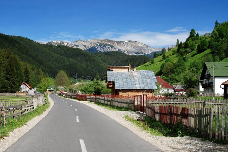 Mountain village in Romania royalty free stock image