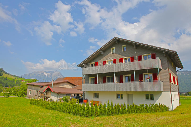 Download Mountain Village In Swiss Alps Stock Image - Image: 25254569