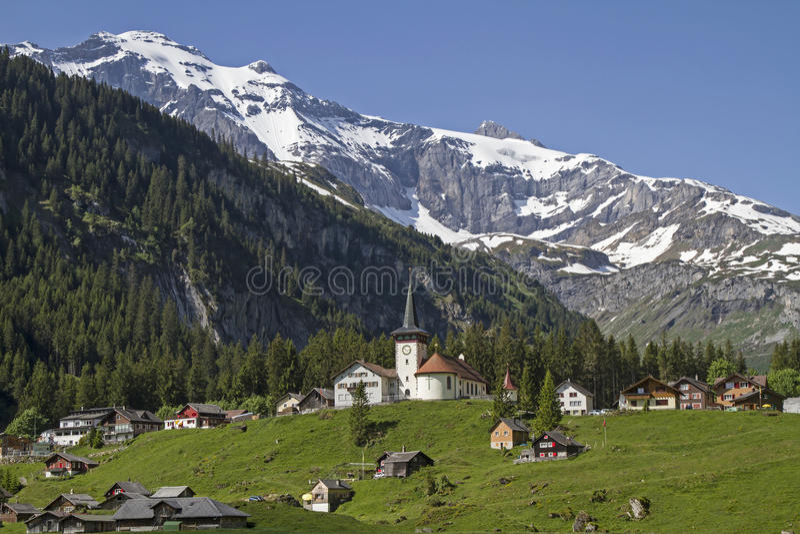 Mountain village Urner Boden royalty free stock photos