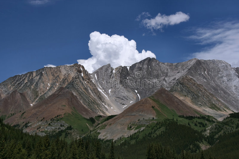Mountain vista in the Rockies stock photography