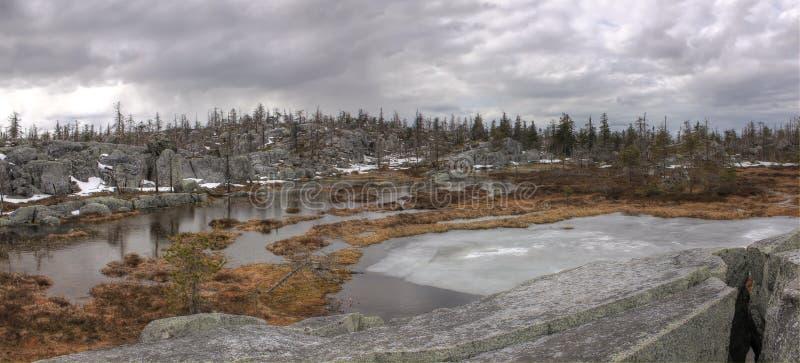 Mountain Vottovaara, Karelia, Russia royalty free stock images