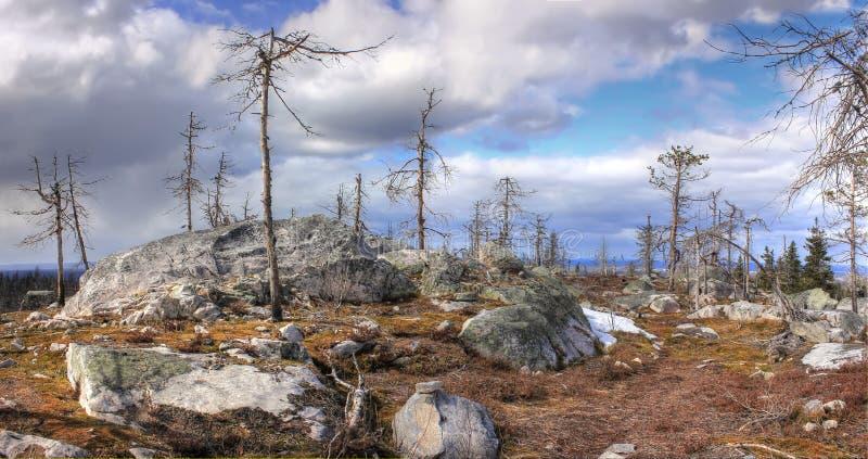 Mountain Vottovaara, Karelia, Russia stock image