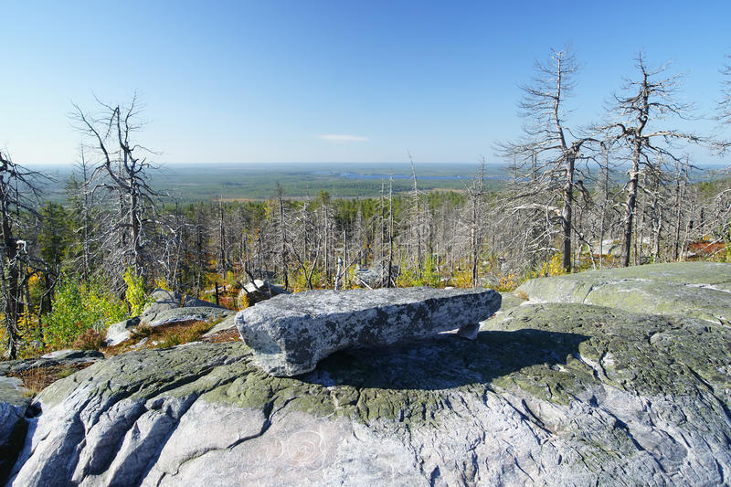 Mountain Vottovaara. Scenery from Mountain Vottovaara, Karelia, Russia royalty free stock images