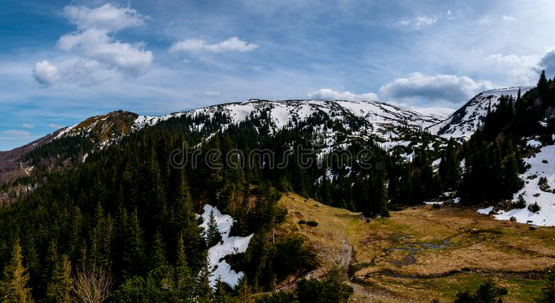 Mountain Vranica view. Vranica one of the most beautiful mountain in Bosnia and Herzegovina royalty free stock photo