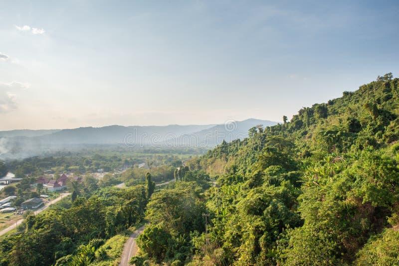 Mountain water source, back of Khun Dan Prakan Chon Dam, Nakhon Nayok, Thailand.  royalty free stock image