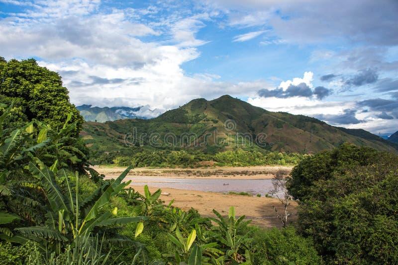 Ta Bu, Son La, Vietnam. A mountain on the way from Son La to Muong La royalty free stock photo