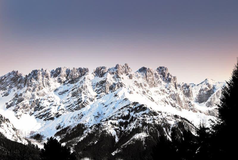 Mountain during Winter stock photo