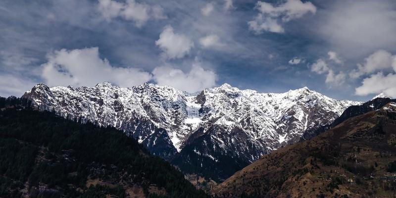 Mountain during Winter stock image