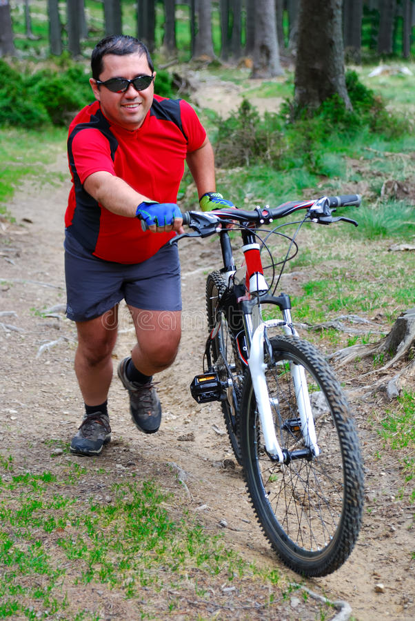 Mountainbike royalty free stock images