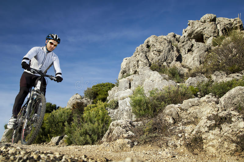 Mountainbike lizenzfreie stockbilder