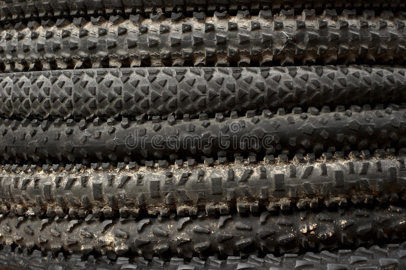 Mountainbike tyres stock images
