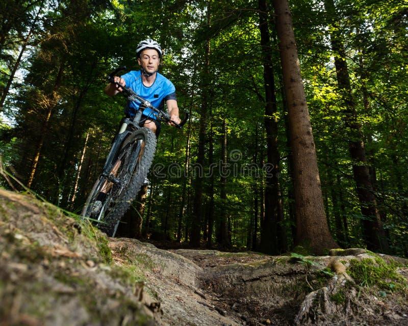 Mountainbiker stock photo