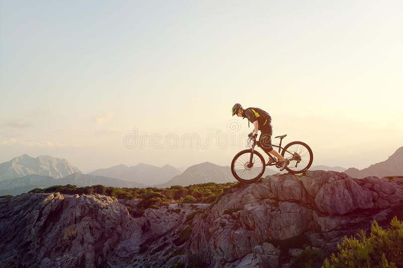 Mountainbiker royalty-vrije stock fotografie