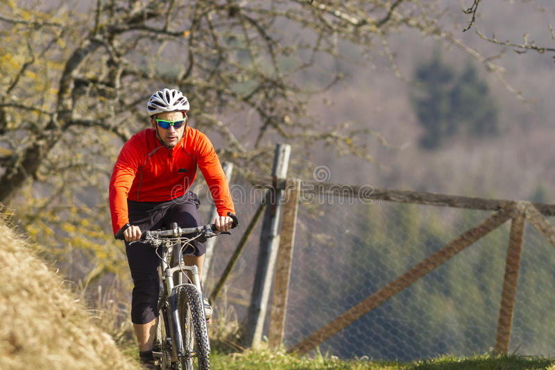 Mountainbiker στοκ φωτογραφία με δικαίωμα ελεύθερης χρήσης