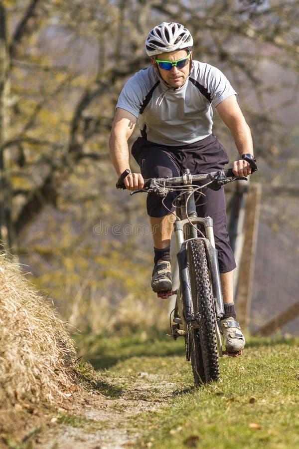 Mountainbiker imagem de stock