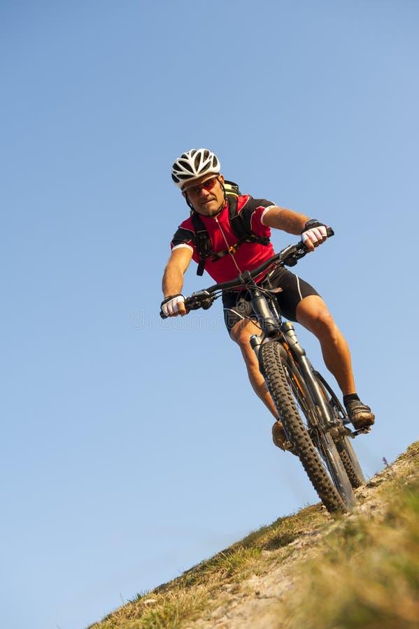 Mountainbiketrip - mountainbiking stockfoto
