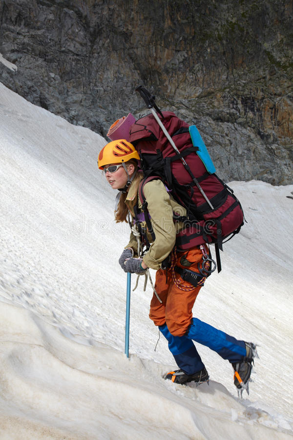 Free Mountaineer Girl In A Mountains Royalty Free Stock Photo - 16279385