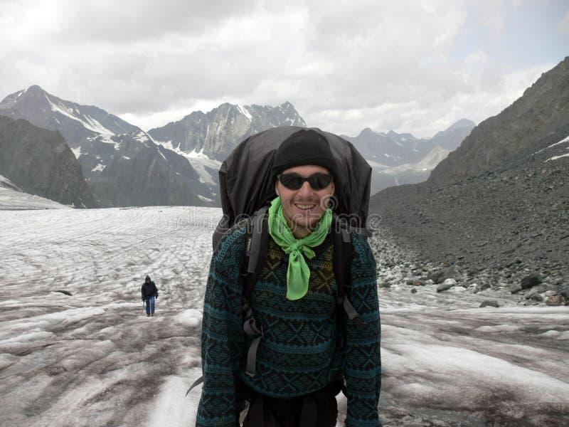 Mountaineer_on_Glacier fotografía de archivo libre de regalías