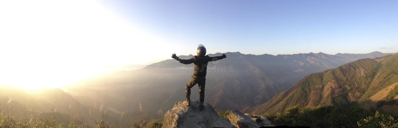 Mountaineer On Summit Free Public Domain Cc0 Image