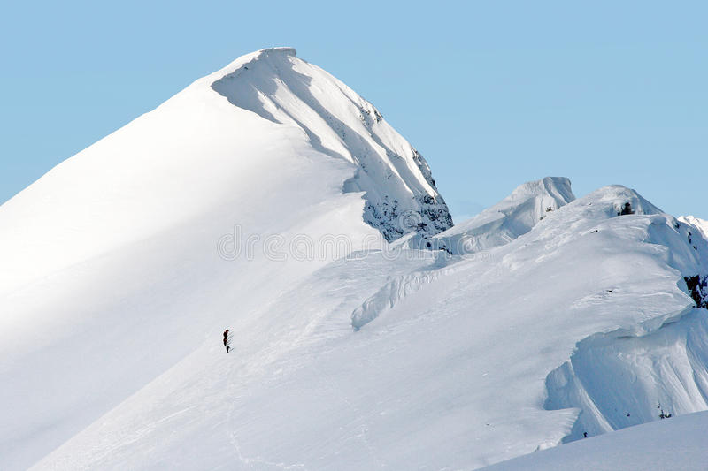 Download Mountaineering In Swiss Alps Stock Image - Image of snowy, cloud: 13332663