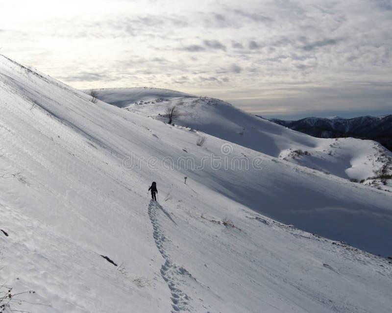 mountaineering zimy. obrazy stock