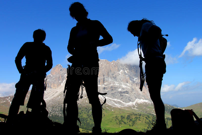 Download Mountaineers stock image. Image of people, activity, hike - 14771177