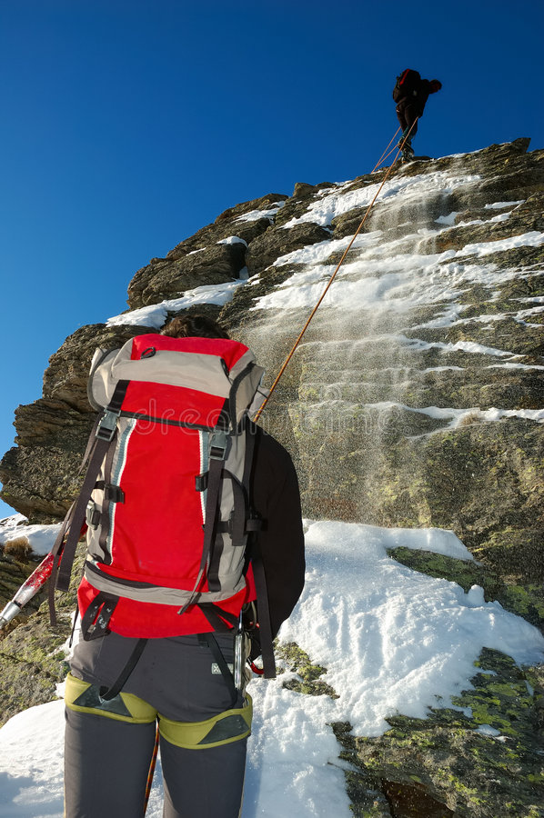 Download Mountaineers Royalty Free Stock Images - Image: 1701069