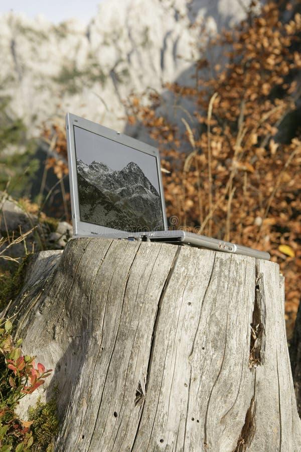MountainNotebook fotografie stock
