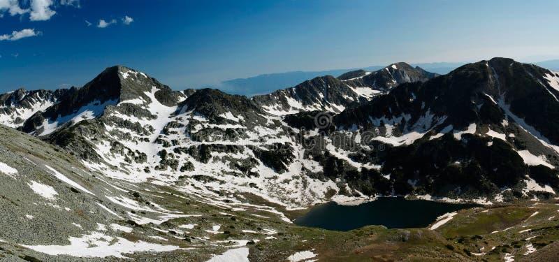 Mountainous Lake Stock Photo