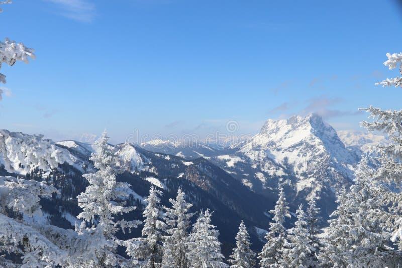 Mountainous Landforms, Mountain Range, Winter, Sky royalty free stock photos