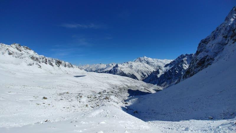 Mountainous Landforms, Mountain Range, Winter, Snow stock photography