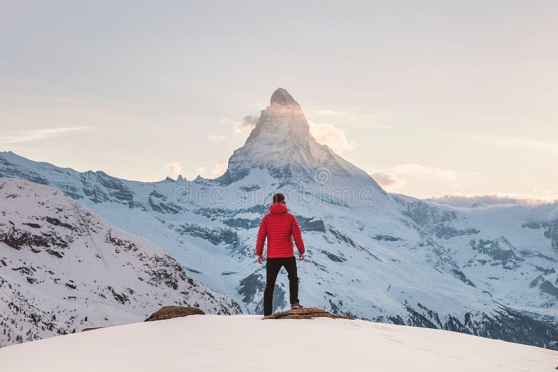 Mountainous Landforms, Sky, Mountain, Winter stock photography