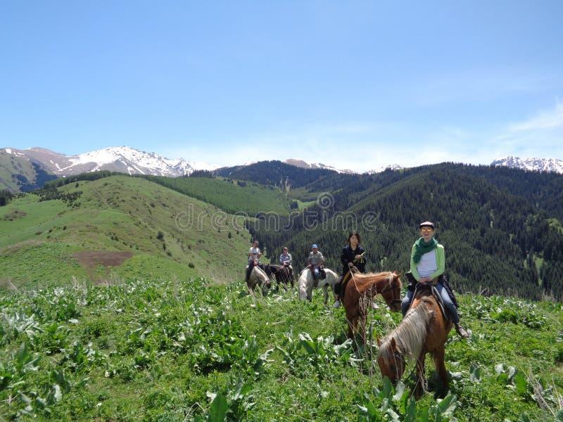 Mountainous Landforms, Trail Riding, Mountain, Wilderness stock image
