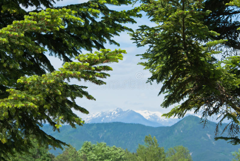 Mountainous landscape royalty free stock images