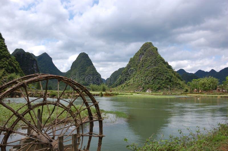 Mountainous landscape of Cao Bang royalty free stock images