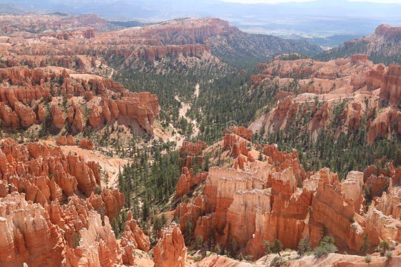 Mountainous landscapes reddish fairy chimneys Bryce Canyon stock photography