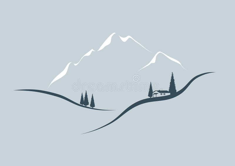 In The Mountains Royalty Free Stock Photos