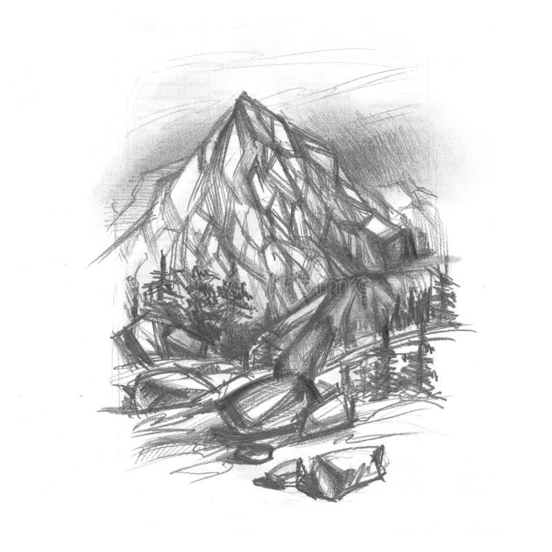Download Mountains stock illustration. Illustration of natural - 23420554