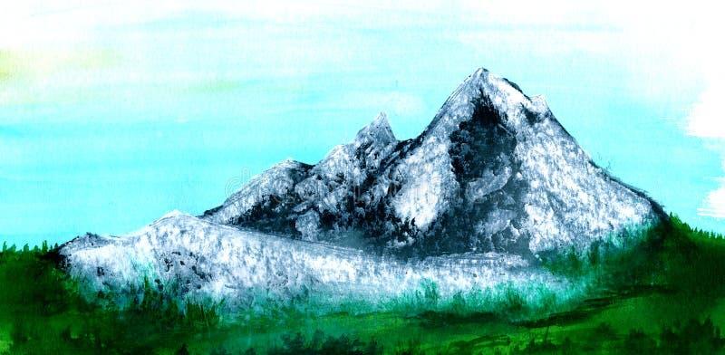 Download Mountains stock illustration. Image of black, grey, mountains - 23843356