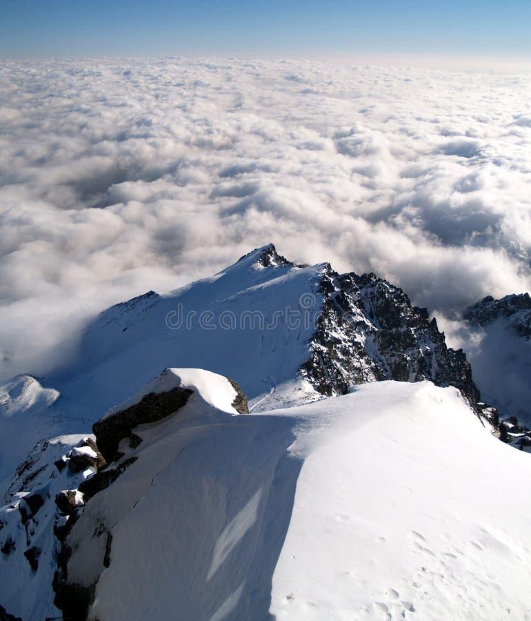 Mountains. High Tatra mountains during winter in Slovakia stock photo
