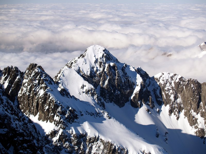 Mountains. High Tatra mountains during winter in Slovakia stock photos