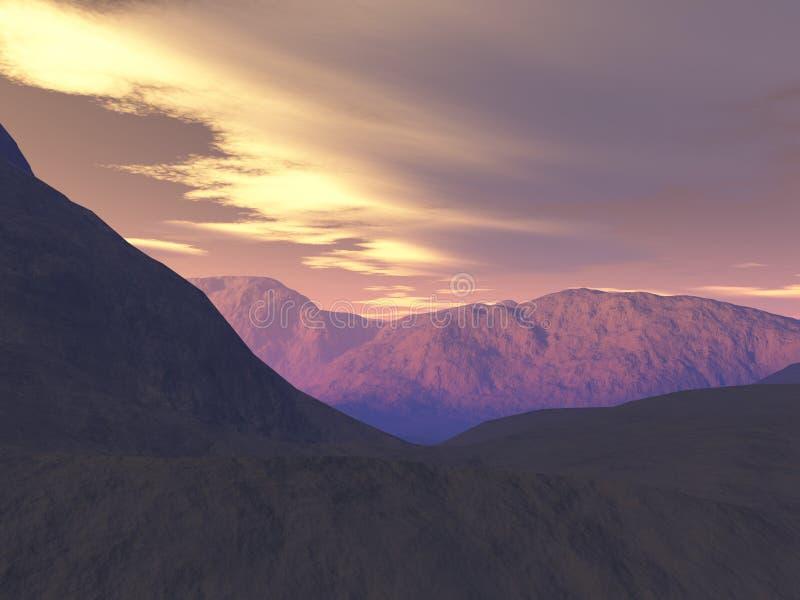 Mountains royalty free illustration