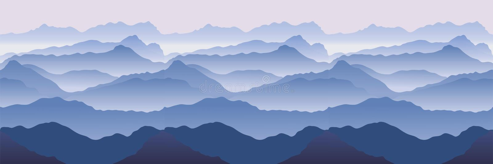 Mountains royalty free illustration