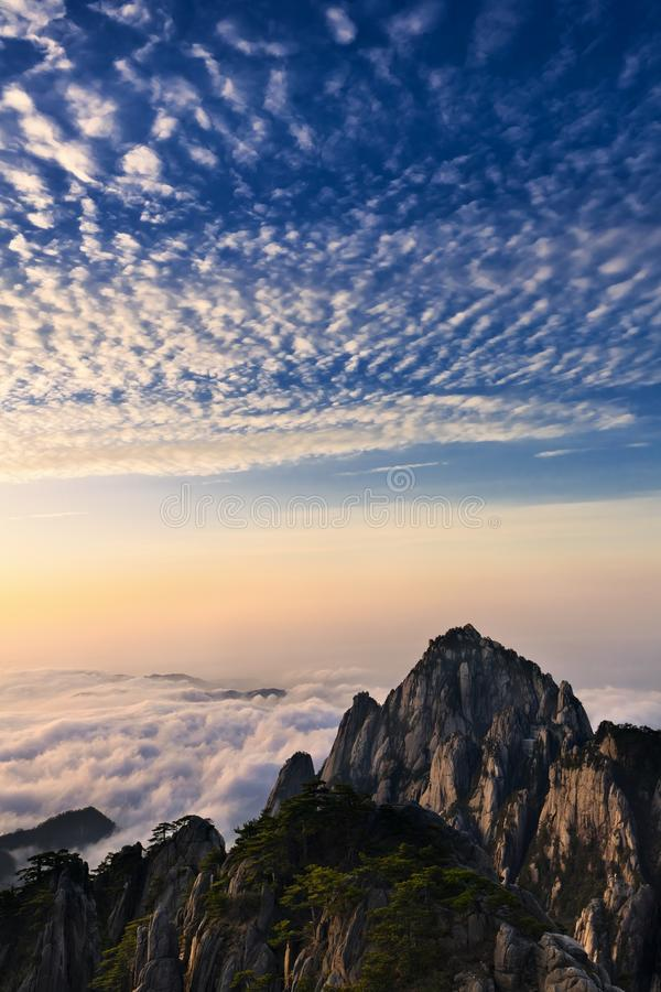 Mountains Above The Clouds Stock Photos